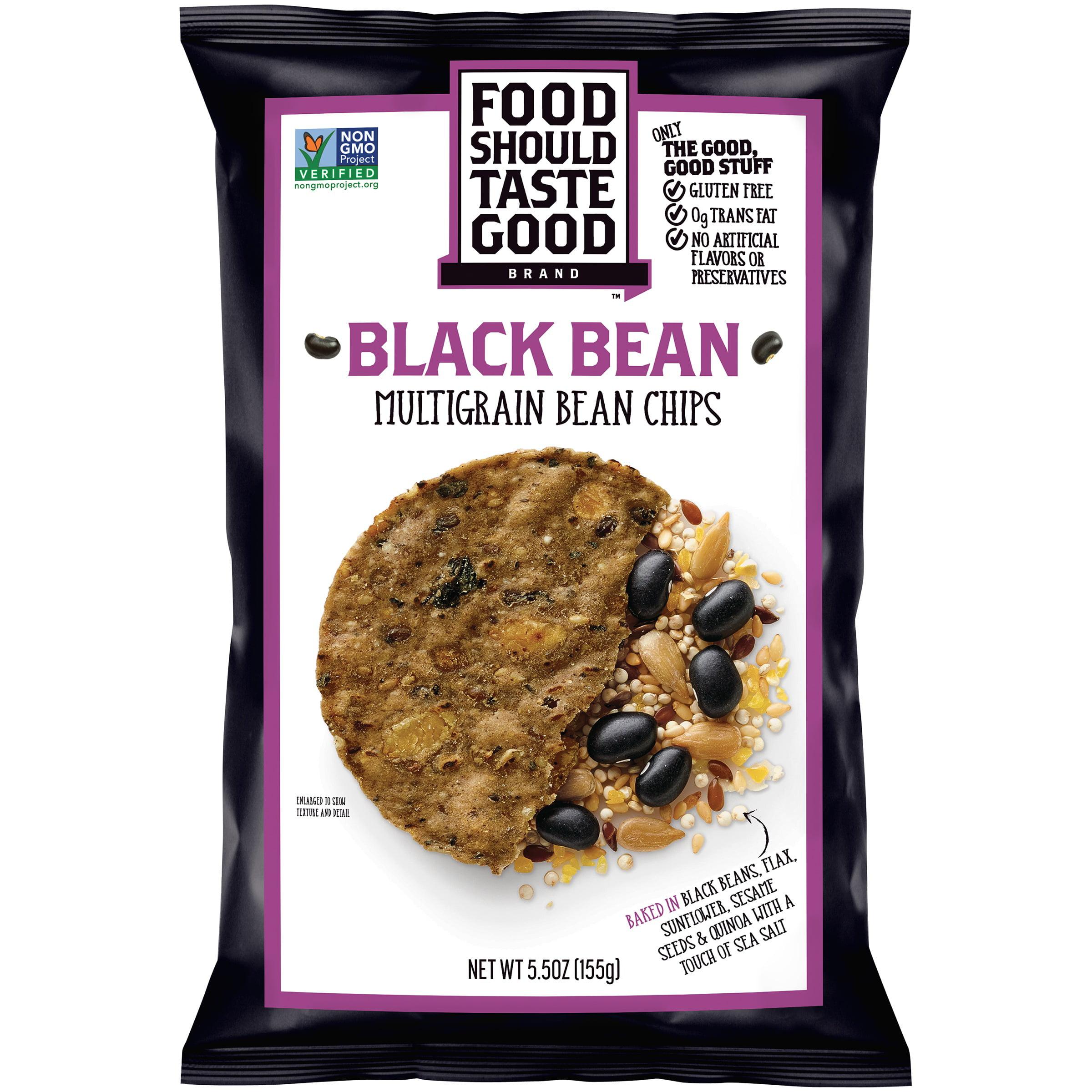 Food Should Taste Good Black Bean Multigrain Bean Chips, 5.5 OZ by Food Should Taste Good, Inc.