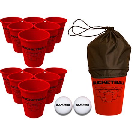 BucketBall 15 Piece Bucket Ball Giant Beer Pong Edition Set](Beer Pong Kit)