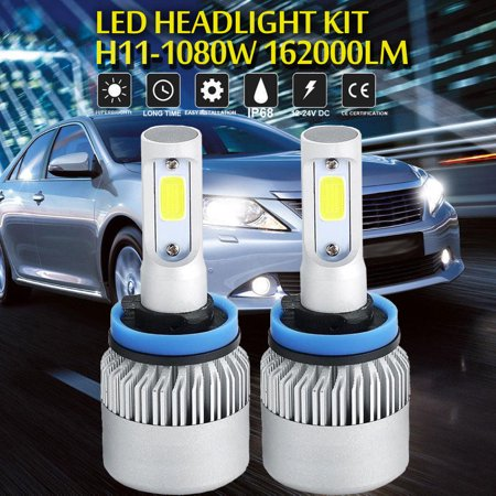 H11 1080W LED Headlight Bulbs Conversion Low Beam 6000K White Driving High Power ()