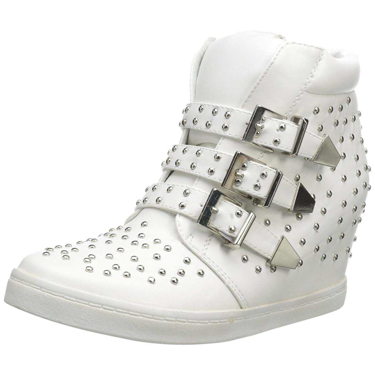 N.Y.L.A Women's Buckley White Wedge Fashion Sneakers