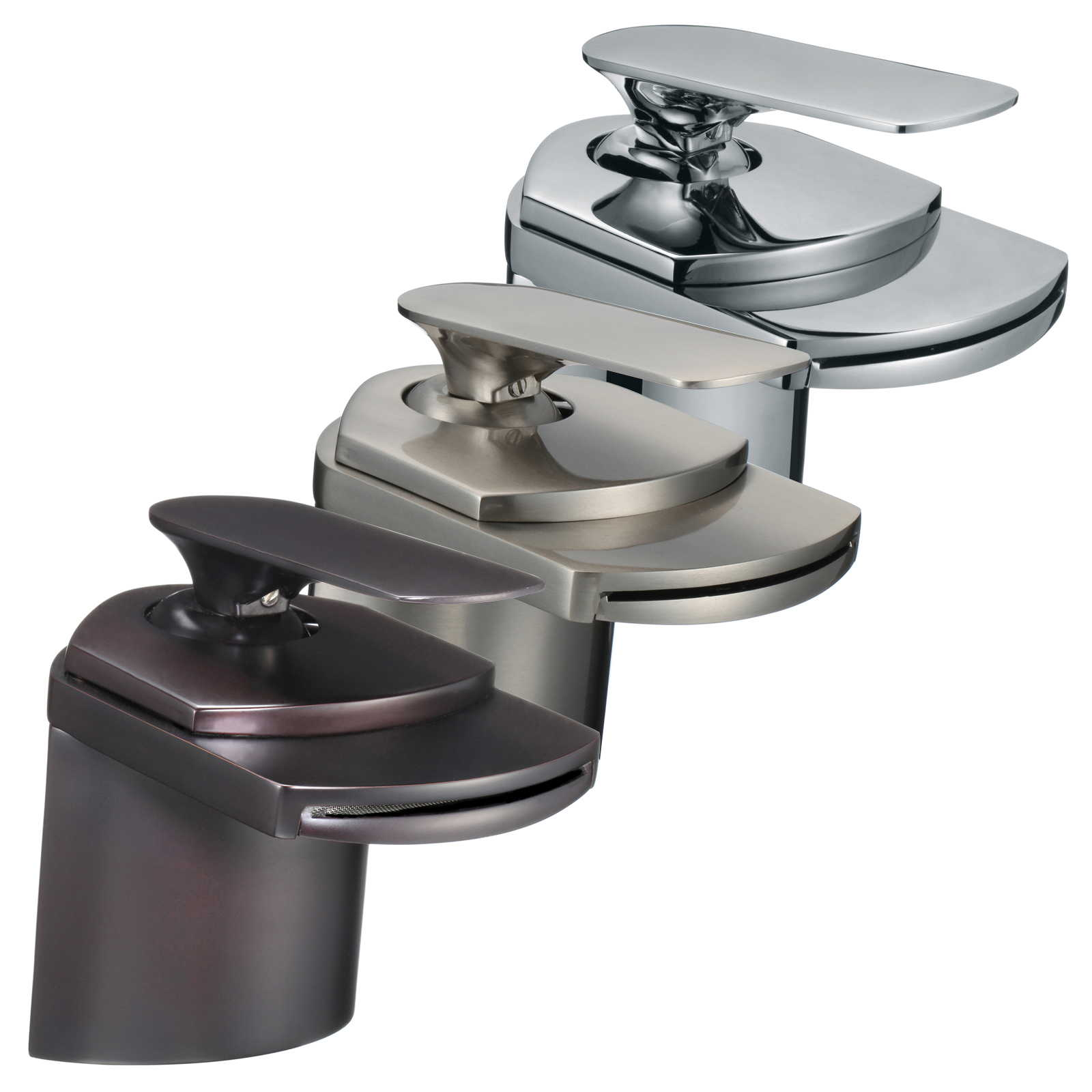 FREUER Cascate Collection: Modern Bathroom Sink Faucet - Multiple Finishes Available