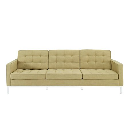 Modway Loft Wool Upholstered Sofa with Steel Legs, Multiple Colors