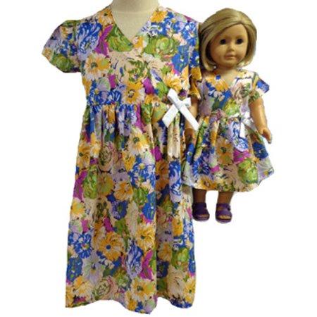Matching Girls and Doll Matching Dress Size 7 - Size 7 Girls Dresses