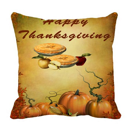 PHFZK Harvest Festival Pillow Case, Happy Thanksgiving Day Pumpkin Pillowcase Throw Pillow Cushion Cover Two Sides Size 18x18 inches - Halloween Harvest Festival Nyc
