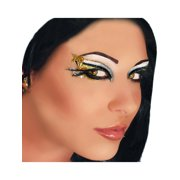 Cobra Applique Xotic Eyes Silver Black Gold Glitter Greek Costume Snake Make Up