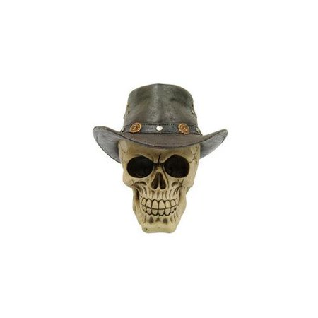 DAS NOVELTY P754158 SKULL WITH BROWN COWBOY HAT](Skull With Cowboy Hat)