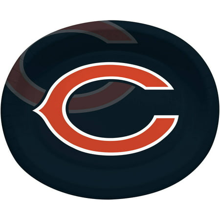 Chicago Bears Oval Platters, 8-Pack