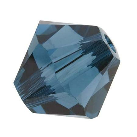 Swarovski Crystal, #5328 Bicone Beads 6mm, 20 Pieces, Montana ()
