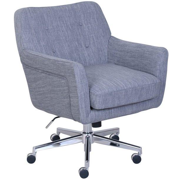 Serta Ashland Home Office Chair Winter River Gray Walmart Com Walmart Com
