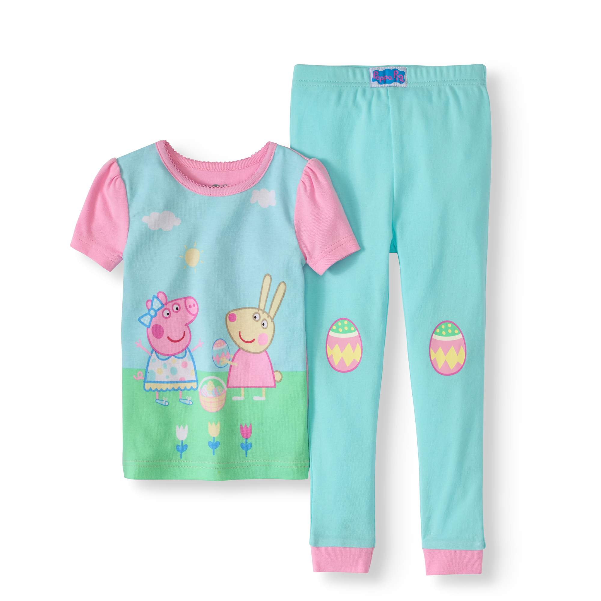 Peppa Pig Girls Toddler Easter 2 Piece Cotton Set