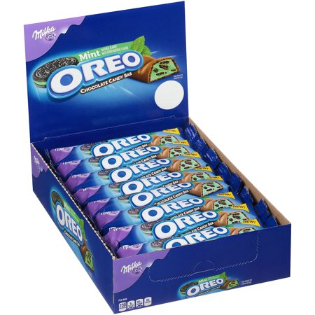 - MILKA Oreo Mint Chocolate Candy Bar, 1.44 oz, 24 Count