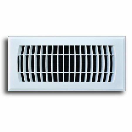 C160MWP 04X12(Duct Opening Measurements) Decorative Floor Grille 4-Inch by 12-Inch Plastic Floor Diffuser, Composite Collection, White Finish, Rust proof ABS.., By Truaire (Decorative White Register)