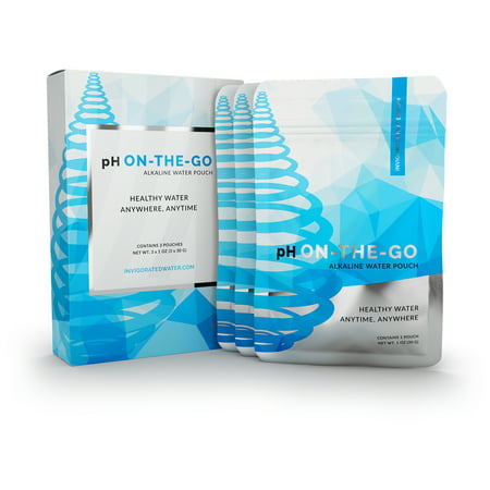 pH ON-THE-GO Alkaline Water Filter Pouch- Portable Alkaline Water Filtration System For Your Bottle, Pitcher, Jug, Container - High pH Ionized Water - Long-Life 16 Gallon/72 Litre