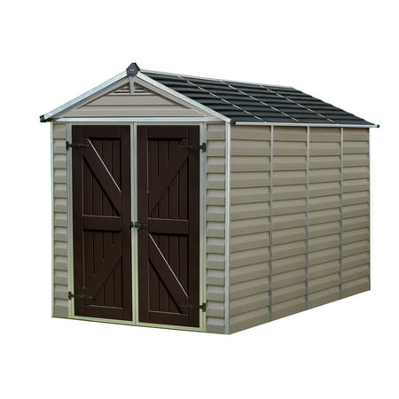 Palram Skylight Shed, 6' x 10', Tan