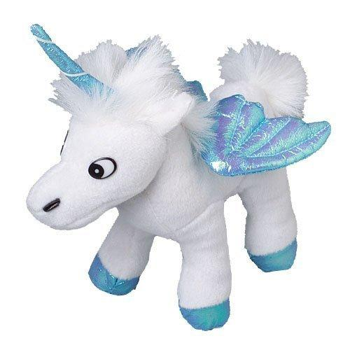 One Assorted Color Stuffed Plush Iridescent Wing Unicorn Animal Toys