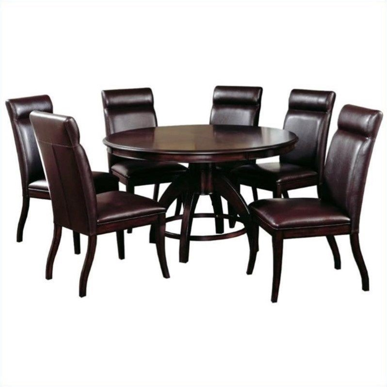 Hillsdale Nottingham 7 Piece Round Counter Height Dining Set