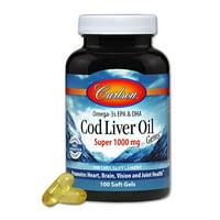 Carlson Cod Liver Oil Gems, 100ct