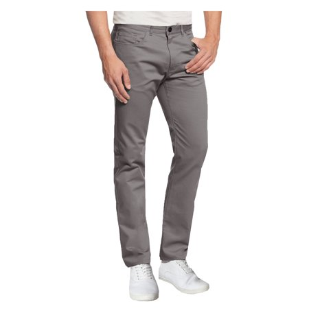 Mens 5-Pocket Flat Front Cotton Stretch Casual Chino Pants
