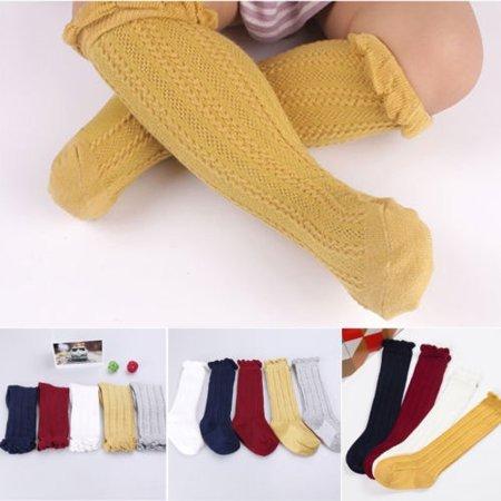 Princess Baby Girl Knee Socks Cotton Breathable Baby Socks Summer Socks For Girl ()