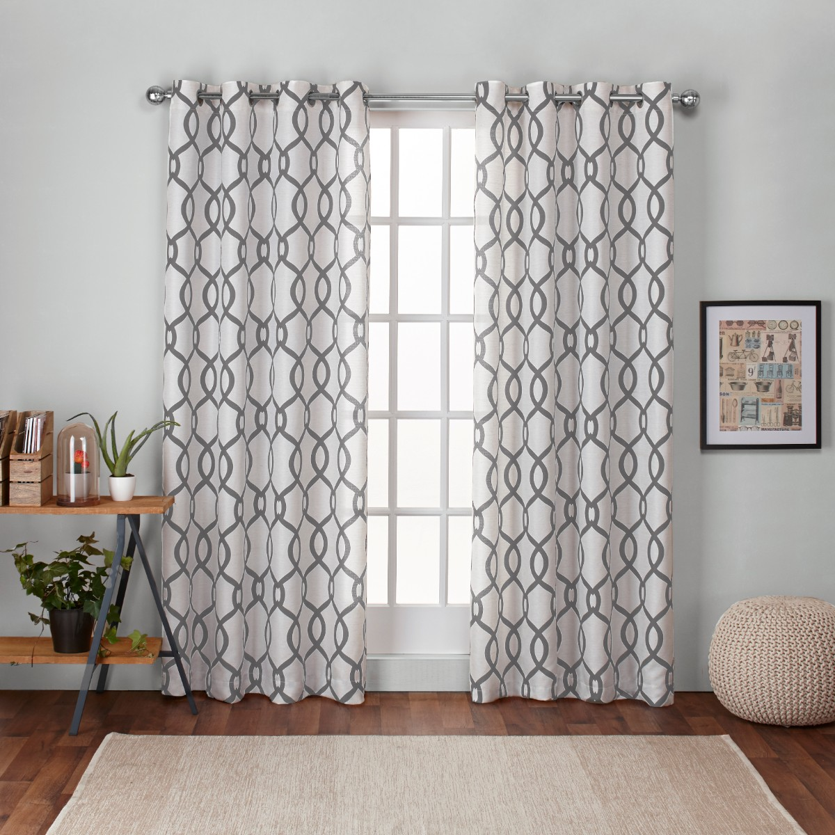 Kochi Linen Blend Grommet Top Window Curtain Panel Pair