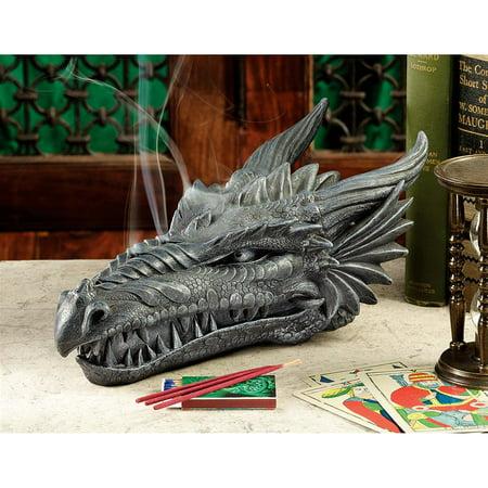 Design Toscano Stryker the Smoking Dragon Sculptural Incense