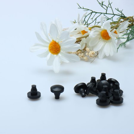 10pcs 7mm Stem Bumpers Glide, Patio Outdoor Furniture Glass Table Top Embedded Black - image 2 of 4