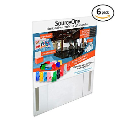 Source One 6-Pack of 11 x 8 1/2 Inch Clear Magnetic Sign Holder Ad ...