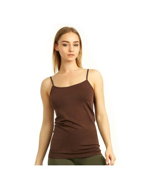 ce24bcd021a Product Image 1 Brown Tank Top Spaghetti Strap Seamless Stretch Tunic Slip  Camisole Layer Cami