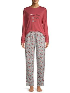 EV1 from Ellen DeGeneres Naughty or Nice Pajama Pant Set Women's