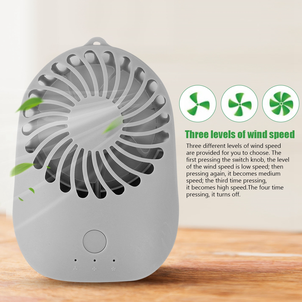 Aramox Mini USB 3 Speeds Rechargeable Portable Table Electric Handheld Fan for Office Summer, 3 Speeds Rechargeable Fan, Mini Table Fan