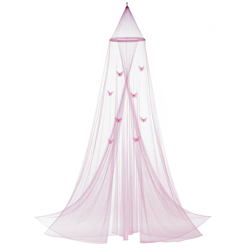 Girls Bed Canopy, Mosquito Netting Canopy, Baby Crib Pink Butterfly Bed  Canopy
