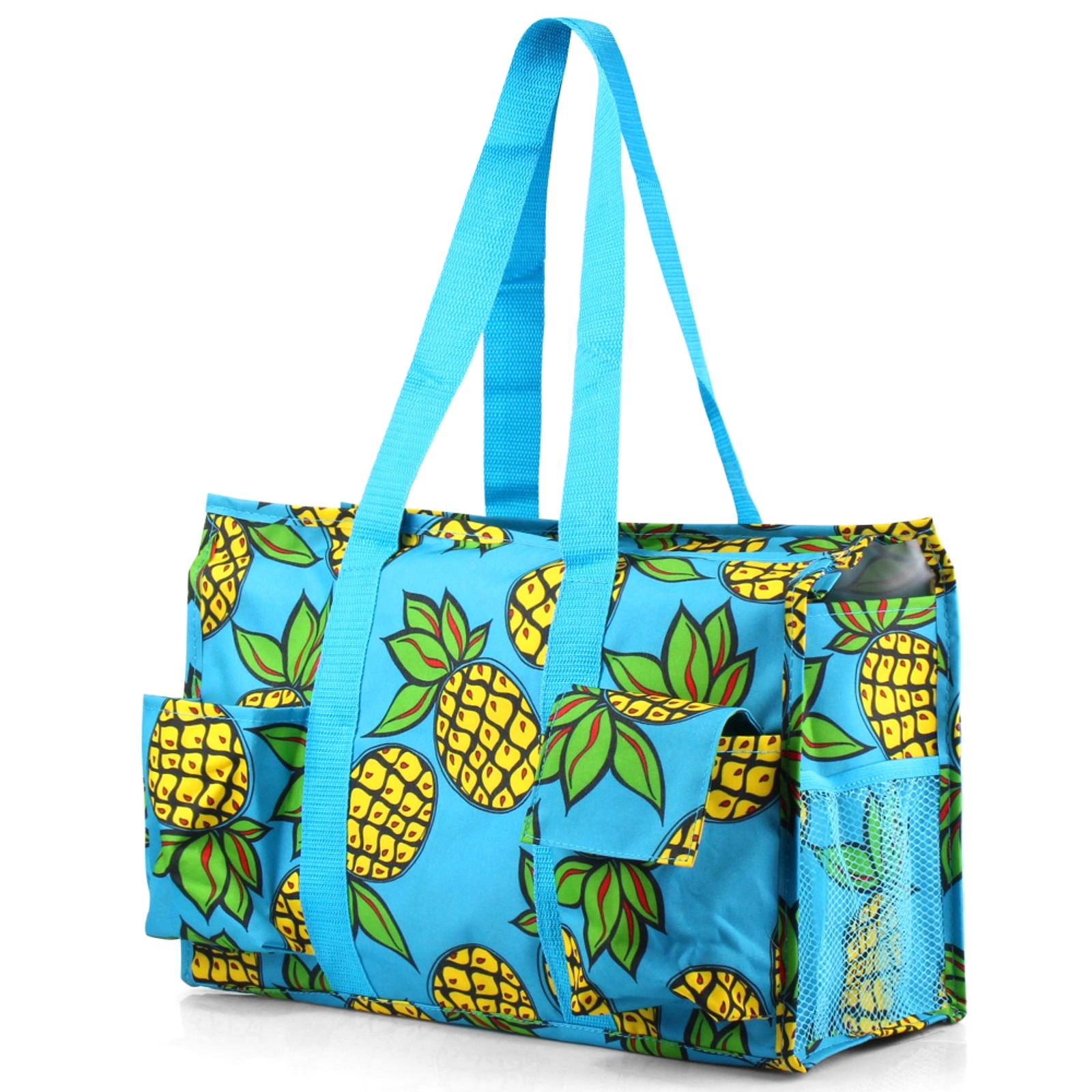 Zodaca Lightweight All Purpose Handbag Large Utility Shoulder Tote Carry Bag for Camping Travel Laundry Shopping - Pineapple