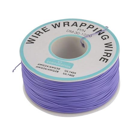 Unique Bargains 305M Length 0.5mm Dia PCB Solder Blue Flexible Core Wire Wrapping Wrap Reel