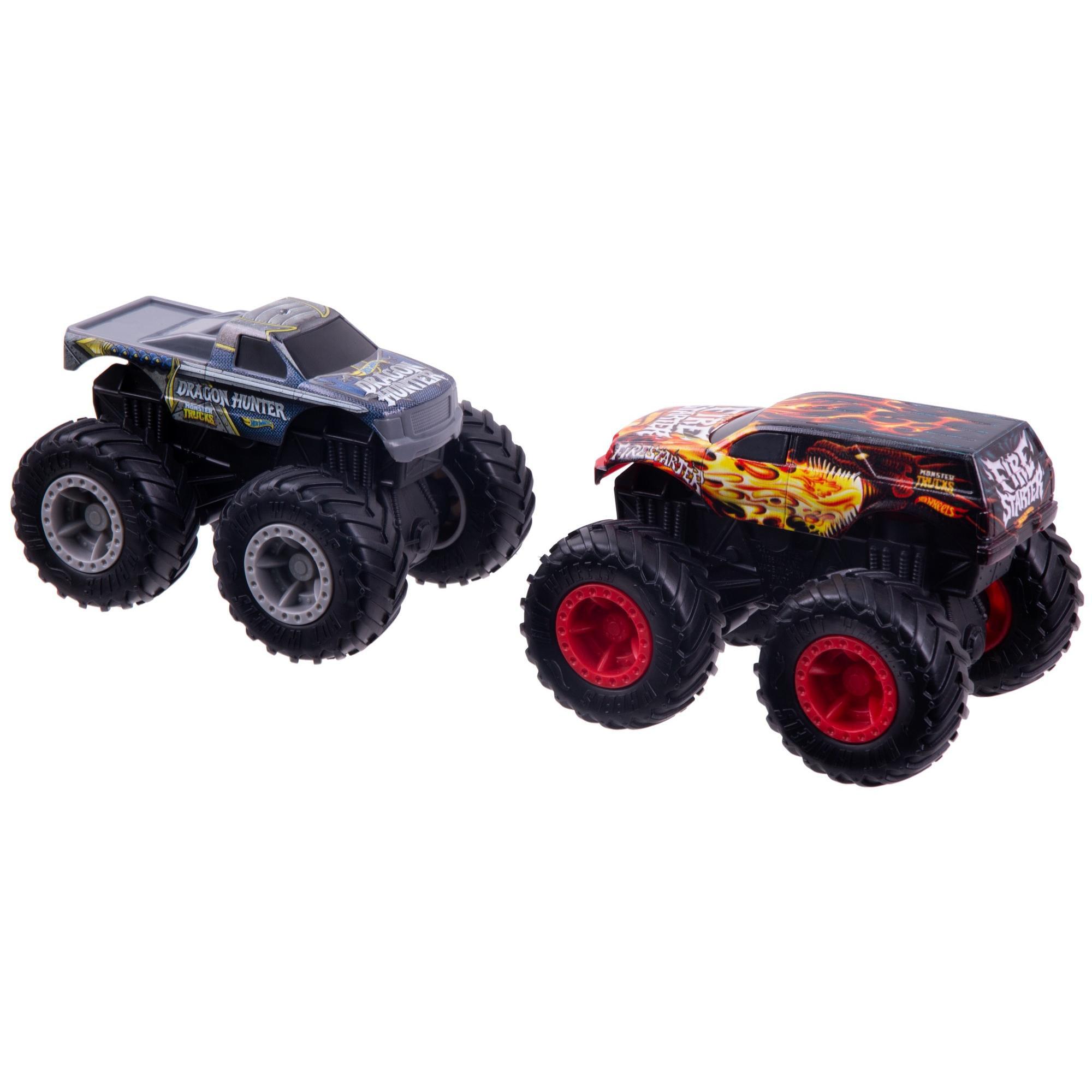 Hot Wheels Monster Trucks Dueling Fire Starter vs Dragon ...