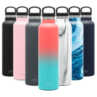 Simple Modern 24oz Ascent Water Bottle - Hydro Vacuum Insulated Tumbler Flask w/ Handle Lid - Double Wall Stainless Steel Reusable - Leakproof Ombre: Havana