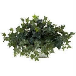 DSD - Ivy w/White Wash Planter Silk Plant - Wishing Plant