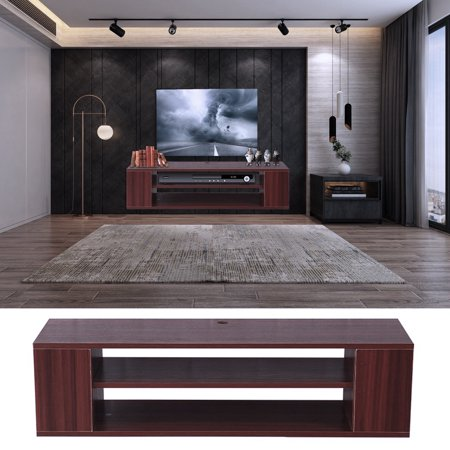 Amazing Products Living Room Home Entertainment Systems Media Console Tv Stand Storage Cabinet Display Sliding Drawer Brown Red Walmart Com Download Free Architecture Designs Rallybritishbridgeorg