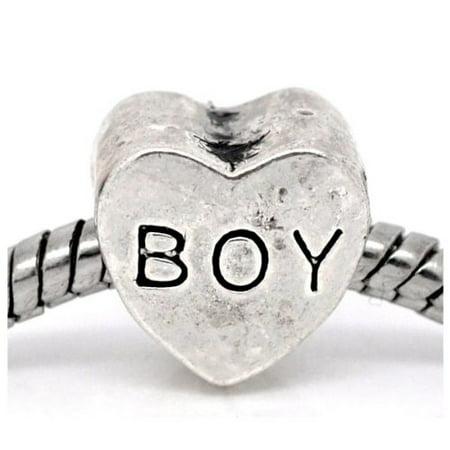 Boy Charm Bead. Compatible With Most Pandora Style Charm Bracelets.