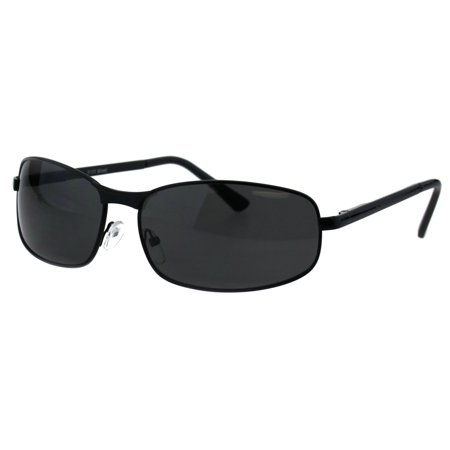 Mens Oval Narrow Rectangular Metal Rim Designer Racer Sunglasses All (Oval Sunglasses For Men)