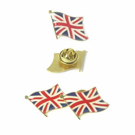 National Flag Lapel Pin (3 Pc UK British Flag Lapel Pin Great Britain England Pinback Hat National Badge )