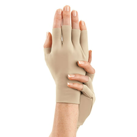 Arthritis Gloves 2 PAIR for Arthritis in Hands Compression Gloves for Carpal Tunnel, Sore & Stiff Muscles, Men and Women (Unisex) FREE Eyeglass Pouch by iSupportPosture