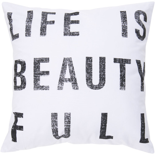 Trule Teen Clemons Typography 100pct Cotton Pillow Cover