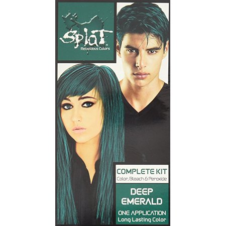 Splat Rebellious Colors Complete Hair Color Kit Emerald 1 0 Lication Pack Of 3