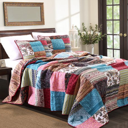 innovative new bohemian bedroom furniture | New Bohemian Full BedSpread Set, 3-Piece-Multi - Walmart.com