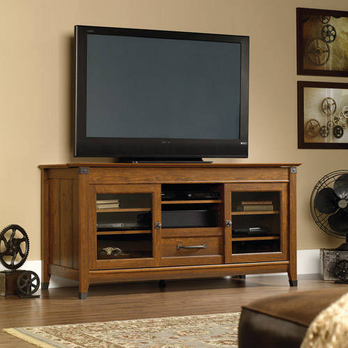 "Sauder Carson Forge Entertainment Credenza for TVs up to 60"", Multiple Finishes"