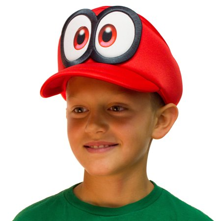 Super Mario Odyssey Cappy Hat Kids Cosplay Accessory](Mario Bros Hat)