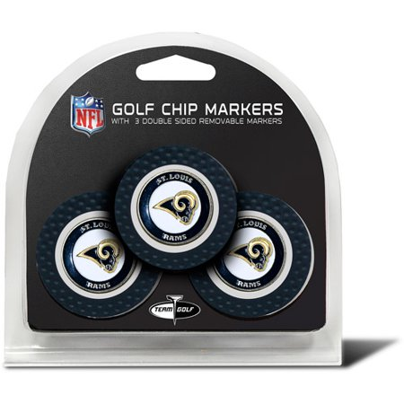 Team Golf NFL St Louis Rams 3 Pack Golf Chip Ball Markers