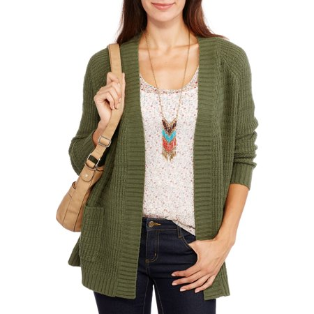 Faded Glory Women's Cardigan with Side Pockets