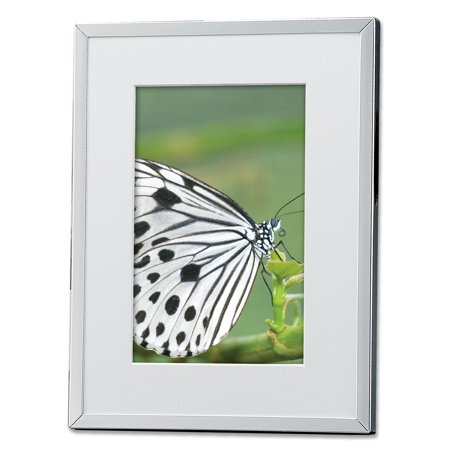 silver plated matted 4x6 picture frame. Black Bedroom Furniture Sets. Home Design Ideas