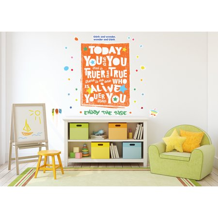 Dr. Seuss Street Art Today You Are You Inspirational Quote Giant Wall Decal](Dr Seuss Giant Wall Decals)